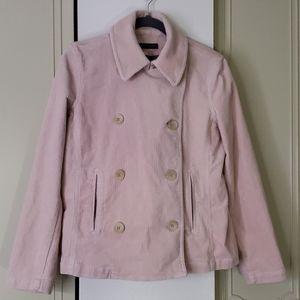 Ralph Lauren pink corduroy pea coat